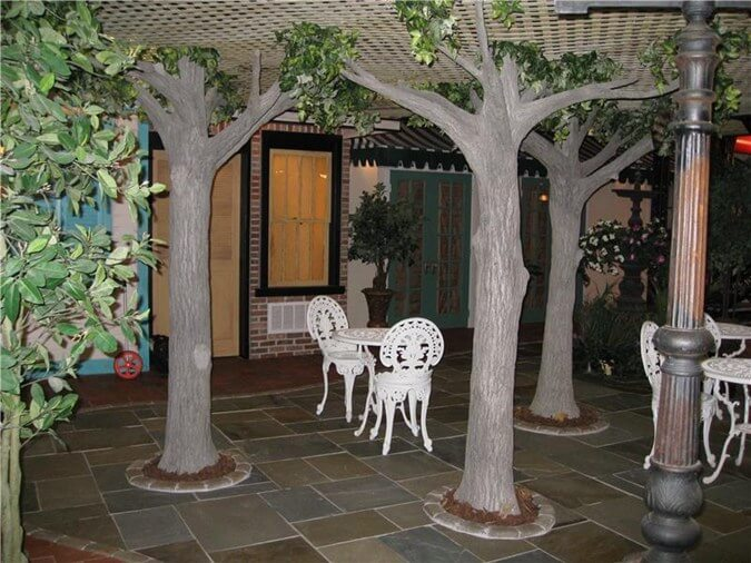 Concrete Trees Basement Design