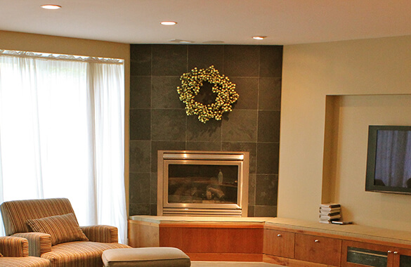Adding Texture with a Stone Fireplace