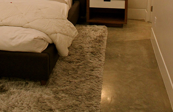 Soften Concrete Flooring with a Rug