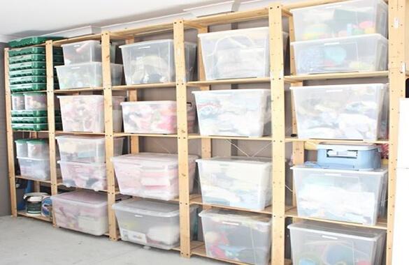 Basement Storage Idea