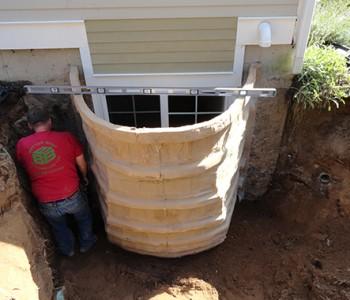 Egress Window Well Installation